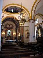 Detalle del interior de la Parroquia
