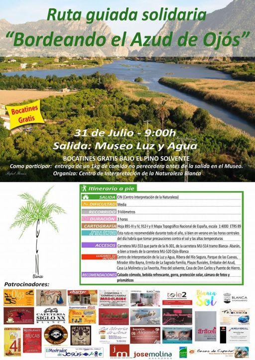 ruta Bordeando el Azud de Ojós 31 de julio blanca